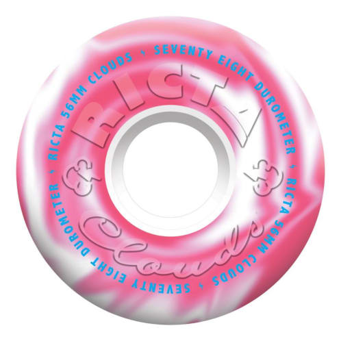 "Ricta ""Clouds"" Wheels 78A Swirl Pink/White 56mm"