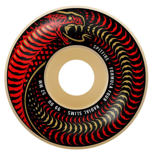 Spitfire Formula Four Radial Skateboard Wheels Venomous Radial Slims 99DU 52mm