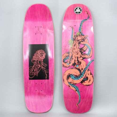 Welcome 9.25 Seahorse 2 On Golem Skateboard Deck Coral