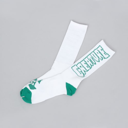 Creature Pointers Crew Socks White