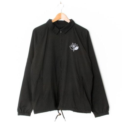 Magenta Embroidered Coach Jacket Black