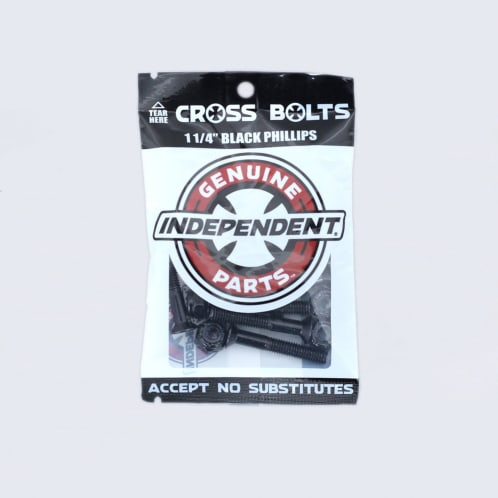 "Independent 1 1/4"" Phillips Bolts Black"