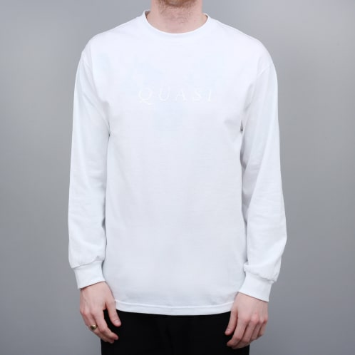 Quasi Wordmark Longsleeve T-Shirt White