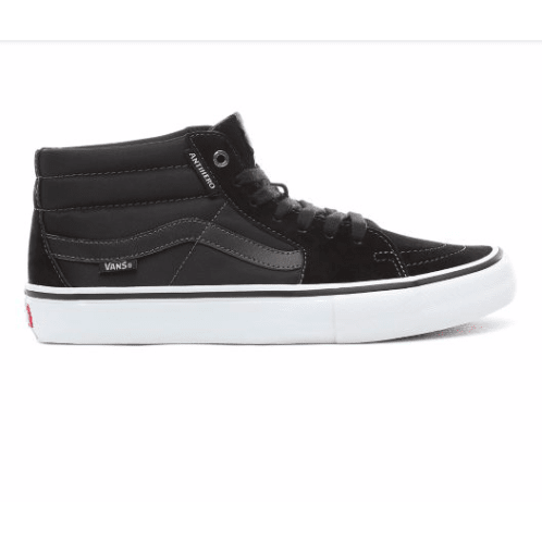 Vans X Anti Hero Sk8-Mid Pro Skateboarding Shoes - Grosso/Black