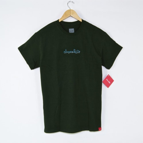 Chocolate Skateboards - Ribbon Embroidered T-Shirt - Forest Green