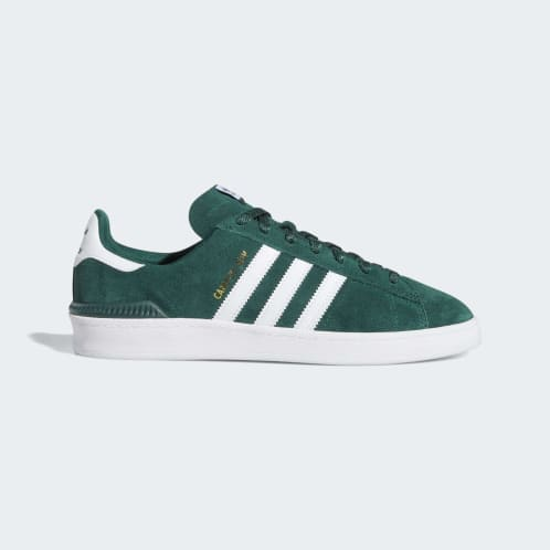 Adidas Campus ADV Shoes - Collegiate Green/Cloud White/Gold Metallic