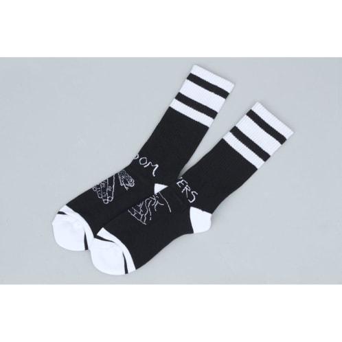 Doom Sayers Snake Shake Socks Black / White