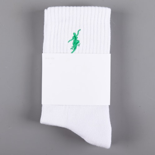 Polar 'No Comply' Socks (White / Green)