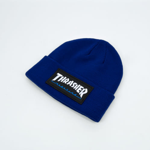 Thrasher - Patch Logo Beanie - Navy