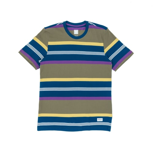Adidas Grover Pique T-Shirt - Raw Khaki/Legend Marine/Purple