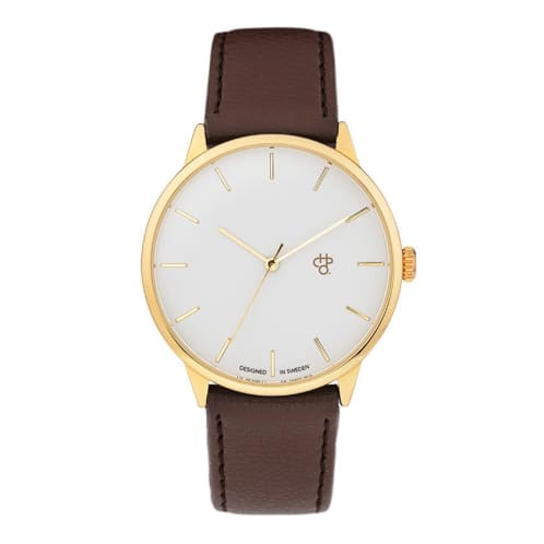 CHPO Khorshid Watch - White/Gold/Brown