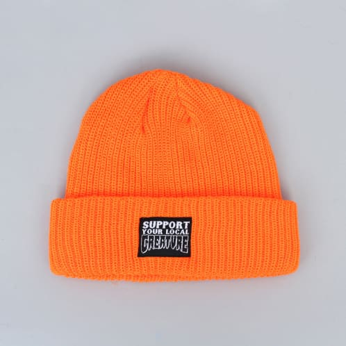 Creature Support Longshoreman Beanie Safety Orange