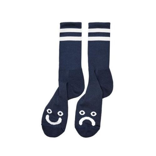 Polar Skate Co. - Happy / Sad Socks - Navy