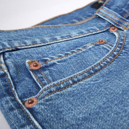 Brixton Labor 5 Pocket Denim Pants Worn Indigo