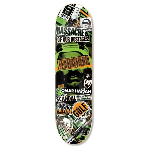"Black Label Omar Hassan ""Bail Out' Deck - 8.38"