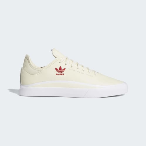 Adidas Sabalo Shoes - Cream White/FTWR White/Power Red