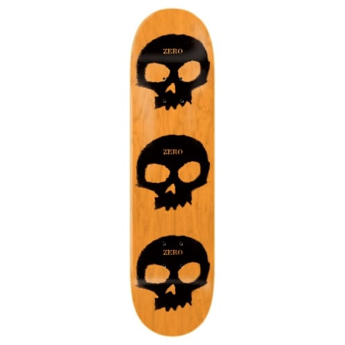 "Zero Skateboards - 8.25"" Multi Skull Stencil Deck - Black / Orange"