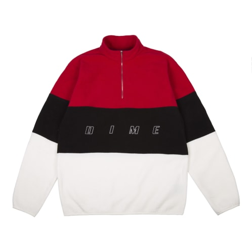 Dime MTL 3 Tone Skateboarding Fleece - Red