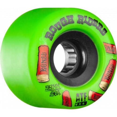 Bones Rough Riders Shotgun ATF Skateboard Wheel - Green 59MM