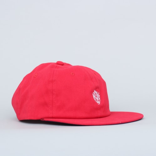 Slam City Skates Flamehead Cap Red