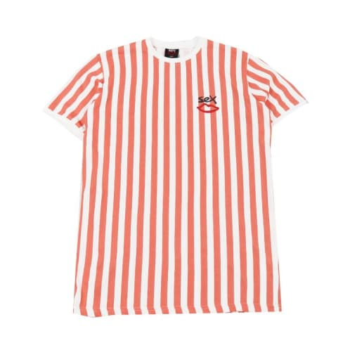 Sex Skateboards Summat Nice Striped T-Shirt - Desert Flower/Stripe
