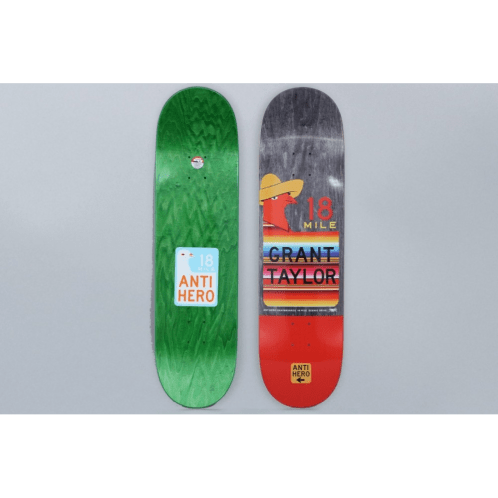 Anti Hero 8.5 Taylor Scenic Drive Part II Skateboard Deck Black / Red