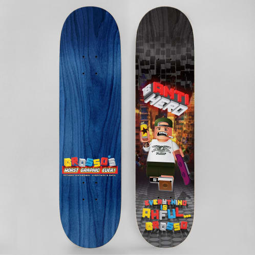 Anti Hero 8.5 Grosso Everything Is Ahful Full Skateboard Deck