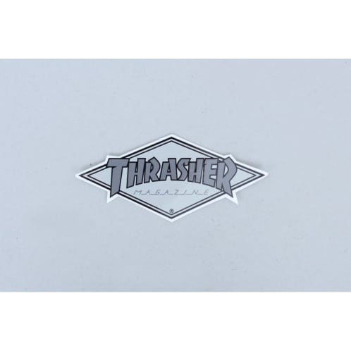 Thrasher Diamond Logo Sticker Silver