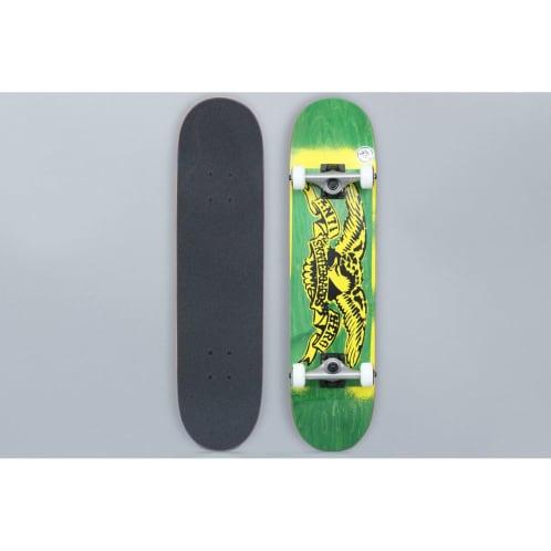 Anti Hero 7.5 Stencil Eagle Small Complete Skateboard Green / Yellow
