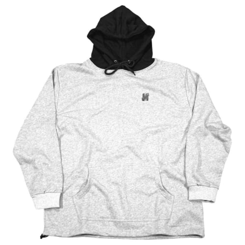 North N Logo Two Tone Hooded Sweatshirt - Grey/Black