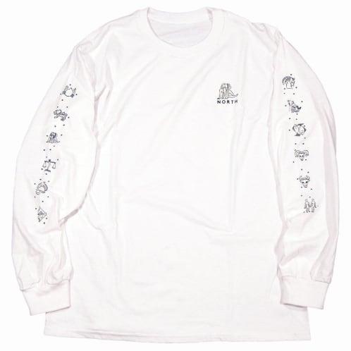 North Zodiac Logo Long Sleeve T-shirt - White/Black