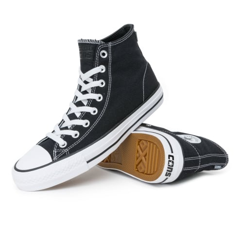 Converse Chuck Taylor All Star Pro High Shoes - Black/Black/White