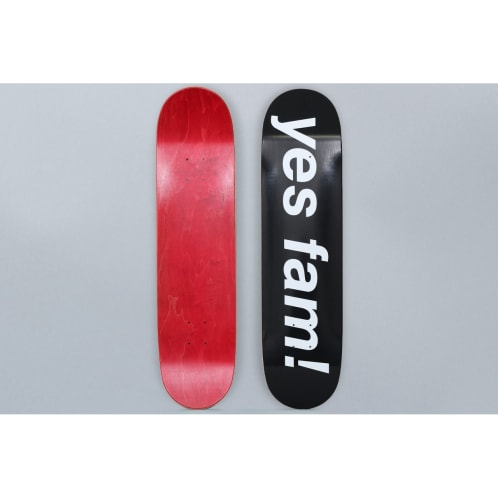 Yes Fam 8 Logo Skateboard Deck Black / White