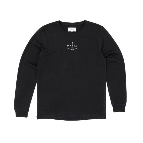 Makia Notch Light Crew Sweatshirt - Black