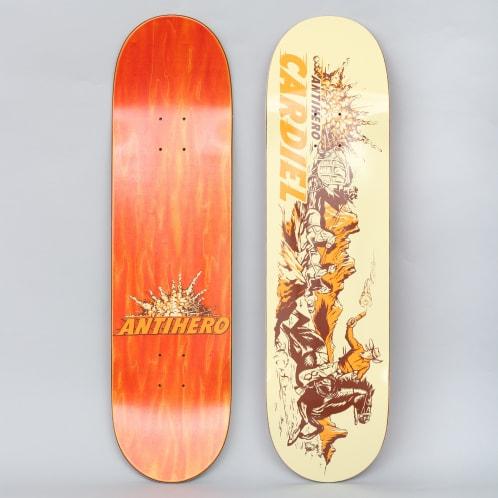 Anti Hero 8.4 Cardiel Getaway Sticks Skateboard Deck Cream