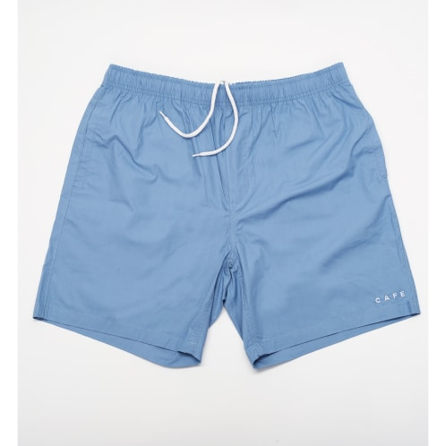 Skateboard Cafe Embroidered Shorts Blue