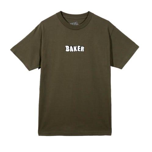 Baker Skateboards Brand Logo T-Shirt - Military Green