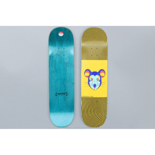 WKND 8.25 Taylor Fever Kingdom Mouse Cookie Skateboard Deck Yellow