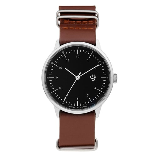 CHPO Harold Watch - Black Dial/Dark Brown Leather Strap