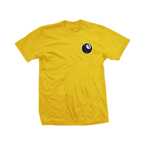 Shake Junt Skateboard 8 Ball Tee - Yellow