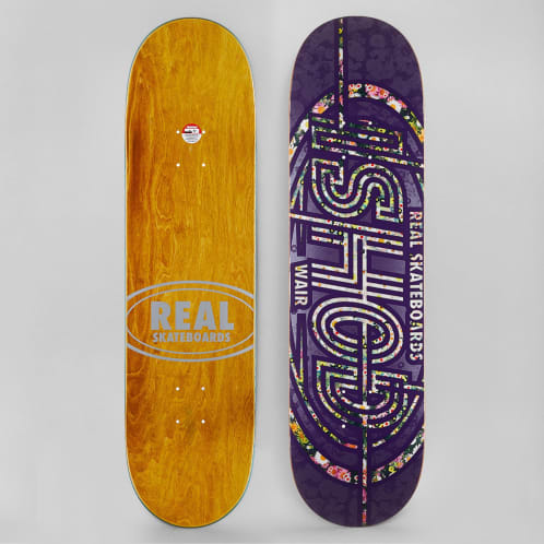 Real 8.4 Ishod Perennial Oval Skateboard Deck Purple