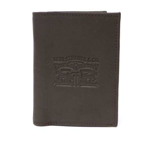 Levis Vintage Two Horse Vertical Coin Wallet - Dark Brown
