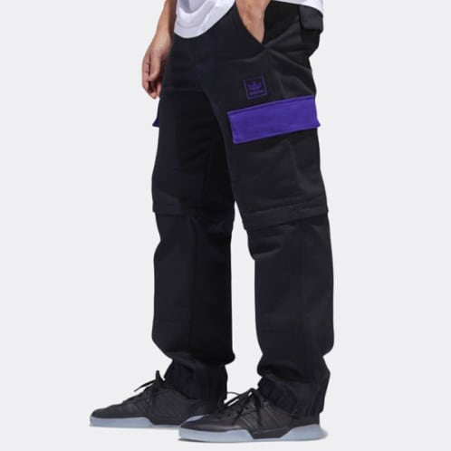 Adidas Skateboarding X Hardies Hardware Trackpants - Black/Collegiate Purple