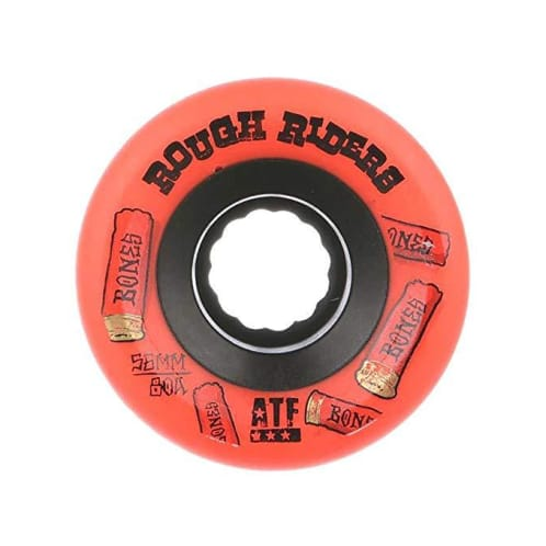 Bones Rough Riders Shotgun ATF Skateboard Wheel - Red 56MM
