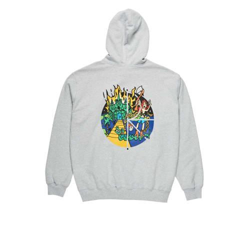 Polar Skate Co. - Castle Fill Logo Pullover Hooded Sweatshirt - Sport Grey