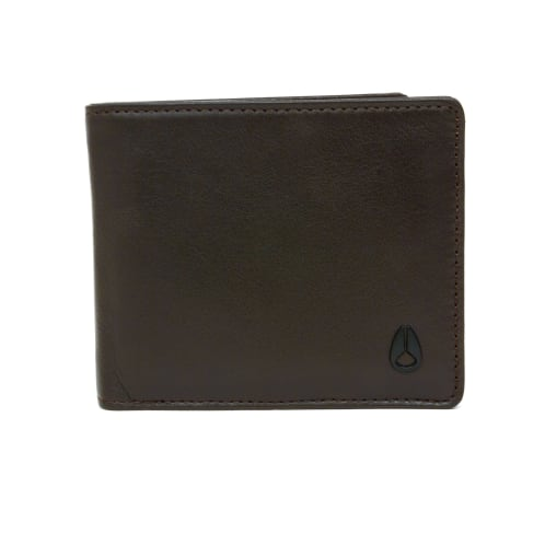 Nixon Satellite Big Bill Bi-Fold Coin Wallet - Brown