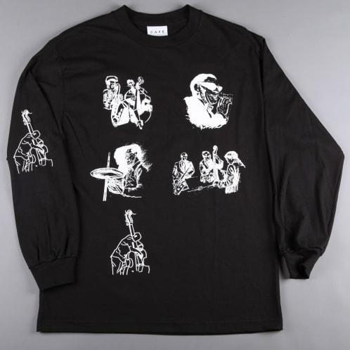 Skateboard Cafe 'Jazz Sketch' Longsleeve T-Shirt (Black)