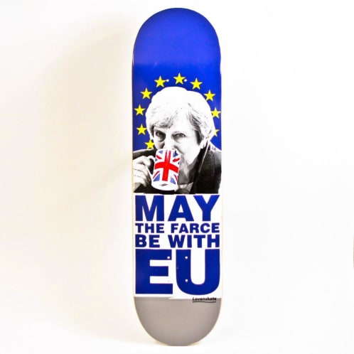 "Lovenskate ""May the farce be with EU"" Skateboard Deck 8.5"""