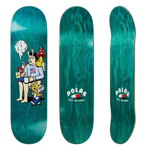 "Polar Skate Co ""Just Like Drugs"" Aaron Herrington Pro Skateboard Deck 8.5"""