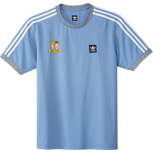 Adidas Beavis and Butthead Jersey - Light Blue/White